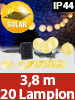 Lunartec Solar-LED-Lichterkette mit 20 Mini-Lampions, gelb, 3,8 m, IP44 Lunartec LED-Solar-Lampion-Lichterketten