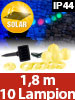 Lunartec Solar-LED-Lichterkette mit 10 Mini-Lampions, 1,8 m, IP44 Lunartec LED-Solar-Lampion-Lichterketten