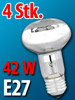 Luminea Halogen-Reflektor, R63, E27, 270 lm, 42 W, warmweiß, 4er-Set Luminea