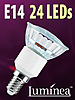 Luminea SMD-LED-Lampe, E14, 24 LEDs, rot, 15 lm Luminea