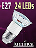 Luminea SMD-LED-Lampe, E27, 24 LEDs, gr�n, 35 lm Luminea