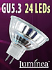 Luminea SMD-LED-Lampe, GU5.3, 24 LEDs, gr�n, 35 lm Luminea