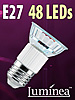 Luminea SMD-LED-Lampe, E27, 48 LEDs, kaltwei�, 270 lm Luminea