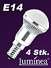 Luminea 3x1W-LED-Energiesparlampe, R50, E14, weiß, 185 lm, 4er-Set Luminea