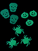 infactory Halloween-Konfetti in 3 Motiven, Glow-in-the-dark infactory Halloween-Dekorationen Glow-in-the-Dark