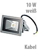 Luminea Wetterfester LED-Fluter im Metallgeh�use, 10W, IP65, wei� Luminea Wasserfeste LED-Fluter
