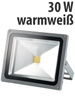 Luminea Wetterfester LED-Fluter im Metallgeh�use, 30W, IP65, warmwei� Luminea Wasserfester LED-Fluter (warmwei�)