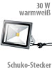 Luminea Wetterfester LED-Fluter im Metallgeh�use, 30 W, IP65, warmwei� Luminea Wasserfester LED-Fluter (warmwei�)