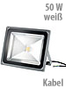 Luminea Wetterfester LED-Fluter im Metallgeh�use, 50 W, IP65, wei� Luminea