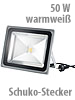 Luminea Wetterfester LED-Fluter im Metallgeh�use, 50W, IP65, warmwei� Luminea