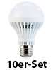 Luminea LED-Lampe, 7W, E27, wei�, 5400K, 420 lm, 180�, 10-er Set Luminea LED Leuchtmittel E27 (wei�)