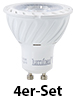 Luminea COB-LED-Spotlight, GU10, 7 W, 500 lm, warmweiß, 4er-Set Luminea LED Spot GU10 (warmweiß)