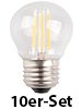 Luminea LED-Filament-Tropfen, G45, E27, 3,5W,360lm,270°,3000K,10er-Set Luminea LED-Filament-Tropfen E27 (warmweiß)