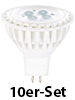 Luminea High-Power LED-Spot, GU5.3, wei�, 5 W, 340 lm, 10er-Set Luminea LED Spot GU5.3 (wei�)