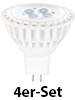 Luminea High-Power LED-Spot, GU5.3, weiß, 5 W, 340 lm, 4er-Set Luminea LED Spot GU5.3 (weiß)