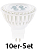 Luminea High-Power LED-Spot, GU5.3, warmweiß, 5 W, 320 lm, 10er-Set Luminea LED-Spots GU5.3 (warmweiß)