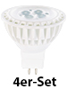 Luminea High-Power LED-Spot, GU5.3, warmweiß, 5 W, 320 lm, 4er-Set Luminea LED-Spots GU5.3 (warmweiß)