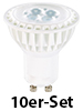 Luminea High-Power LED-Spot, GU10, weiß, 5 W, 340 lm, 10er-Set Luminea