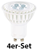 Luminea High-Power LED-Spot, GU10, weiß, 5 W, 340 lm, 4er-Set Luminea