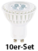 Luminea High-Power LED-Spot, GU10, warmweiß, 5 W, 320 lm, 10er-Set Luminea