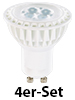 Luminea High-Power LED-Spot, GU10, warmweiß, 5 W, 320 lm, 4er-Set Luminea