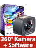 Somikon 360°-Full-HD-Action-Cam mit 2 Objektiven & PowerDirector 15 Ultimate Somikon 360°-Action-Cams mit Full HD und 2 Objektiven