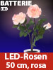 "Lunartec LED-Rosenstrauch ""Real Touch"" mit 3 LED-Blüten, 50 cm, rosa Lunartec LED-Blumen mit Real Touch"