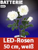 "Lunartec LED-Rosenstrauch ""Real Touch"" mit 3 LED-Blüten, 50 cm, weiß Lunartec LED Rosen, Real Touch, wie echt"