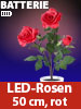 "Lunartec LED-Rosenstrauch ""Real Touch"" mit 3 LED-Blüten, 50 cm, rot Lunartec"