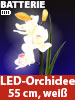 "Lunartec LED-Orchidee ""Real Touch"" mit 3 LED-Blüten, 55 cm, weiß Lunartec LED Orchideen, Real Touch, wie echt"