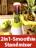 Rosenstein & Söhne 2in1-Smoothie- & Standmixer mit Trinkbecher, BPA-frei, 500 ml, 400 W Rosenstein & Söhne 2in1: Smoothie-Maker & Standmixer
