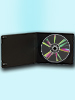 CD Slim Soft Boxen im 10er-Set, 7 mm, schwarz CD-Jewel-Case