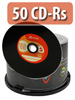 Vinyl-Look CD-R 700MB/80Min, 52x, 50er-Spindel CD-Rohlinge