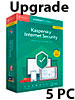 Kaspersky Internet Security 2019 Upgrade - 5 Lizenzen für PCs/Macs Kaspersky Internet & PC-Security (PC-Softwares)