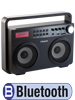 auvisio Ghettoblaster MPS-689.BT mit Bluetooth, Radio und MP3-Player, 20 Watt auvisio Bluetooth Ghettoblaster