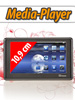 "auvisio Portabler 10,9cm/4,3"" Touchscreen-Mediaplayer ""MPD-4304"" / 4GB"