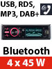 Creasono MP3-Autoradio CAS-4400.bt mit DAB+, USB, SD & BT, 4x 45 W Creasono DAB+ Autoradio mit Bluetooth & MP3
