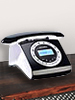 simvalley communications Retro-DECT-Schnurlostelefon mit Anrufbeantworter, schwarz simvalley communications