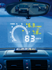 Lescars Head-up-Display HUD-55C für OBD2-Anschluss Lescars Head-up-Displays