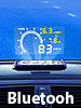 Lescars Head-up-Display mit Bluetooth HUD-55C.bt für OBD2-Anschluss Lescars Head-up-Displays mit Bluetooth