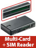 Xystec Smart-, SIM- und Multi-Card-Reader mit 7 Slots, USB 2.0, Plug & Play Xystec Multi-Card-Reader mit SIM- und Smartcard-Reader