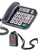 simvalley communications Notruf-Senioren-Telefon XLF-80Plus mit Garantruf schwarz (refurbished) simvalley communications SOS Senioren-Telefone (Festnetz)