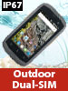 "simvalley communications Dual-SIM-Outdoor-Smartphone, LTE, 10,2-cm-TFT (4""), Android 5.1, IP67 simvalley communications Android-Outdoor-Smartphones"