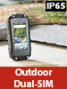simvalley MOBILE Mini-Outdoor-Smartphone SPT-210 mit Dual-SIM und Android 5.1, IP65 simvalley MOBILE Android-Outdoor-Smartphones