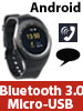 simvalley MOBILE 2in1-Uhren-Handy & Smartwatch für Android, rundes Display, Bluetooth simvalley MOBILE