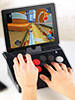 Callstel Gaming-Controller für iPod, iPhone und iPad mit Bluetooth Callstel iPhone Gaming-Controller