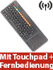 GeneralKeys Funk-Tastatur m. Touchpad, f�r Smart-TVs von Samsung u.v.m., PC, PS3/4 GeneralKeys