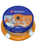 Verbatim DVD-R 16x Super AZO+ Photo-Printable, 25er-Spindel