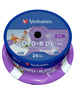 Verbatim DVD+R 8,5GB, 8x Double Layer printable, 25er-Spindel DVD Rohlinge