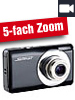 Somikon Digitalkamera DC-128.s mit 15 MP, 5x opt. Zoom, Stabilisator Somikon Digitalkameras